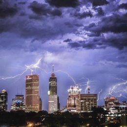 Indianapolis Downtown Skyline Lightning Storm (@jscrone)