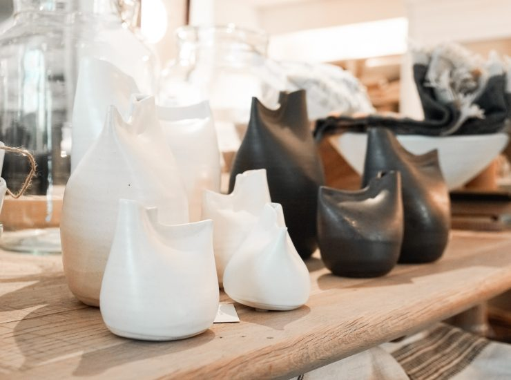 Unique and beautifully artistic vases that have a simplicity to them. Considered to be the