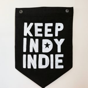 Keep Indy Indie Spearhead flag by Luna Mercantile Co.